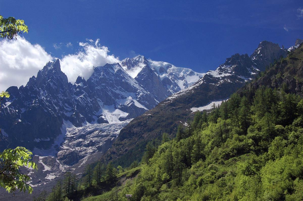 La montagne l'été en Italie