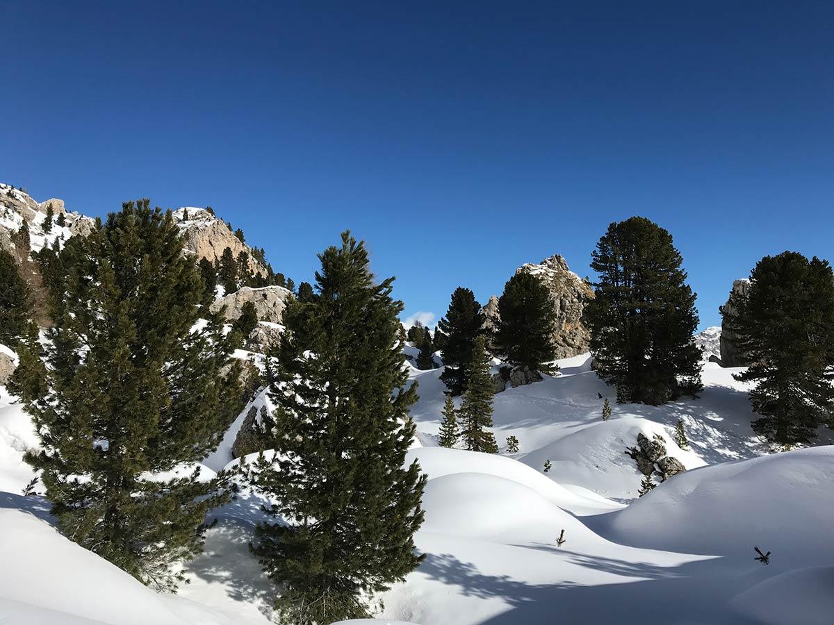 La montagne l'hiver en Italie
